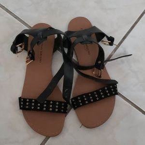EUC Christian Siriano Ankle Strap Sandals Size 8